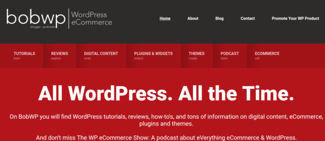 BobWP - WordPress tutorial