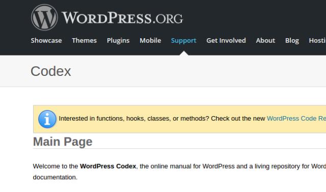 WordPress Codex - WordPress tutorial