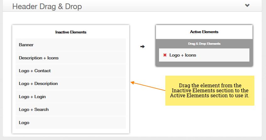 iRibbon Pro 2 - Theme Options - Header - Drag & Drop