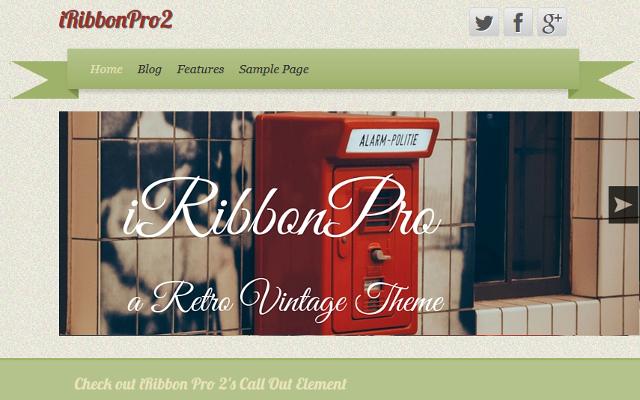 iRibbon Pro 2 – CyberChimps Vintage WordPress Theme