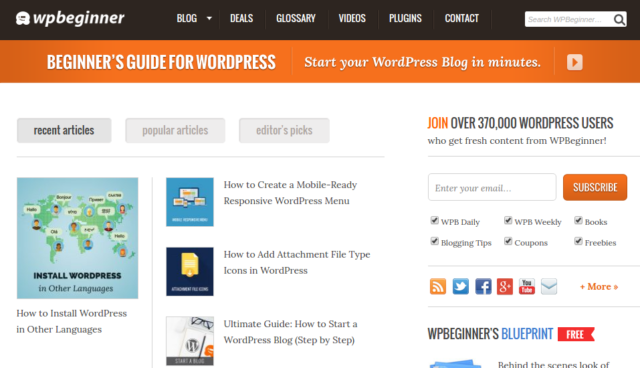WPBeginner - WordPress tutorial