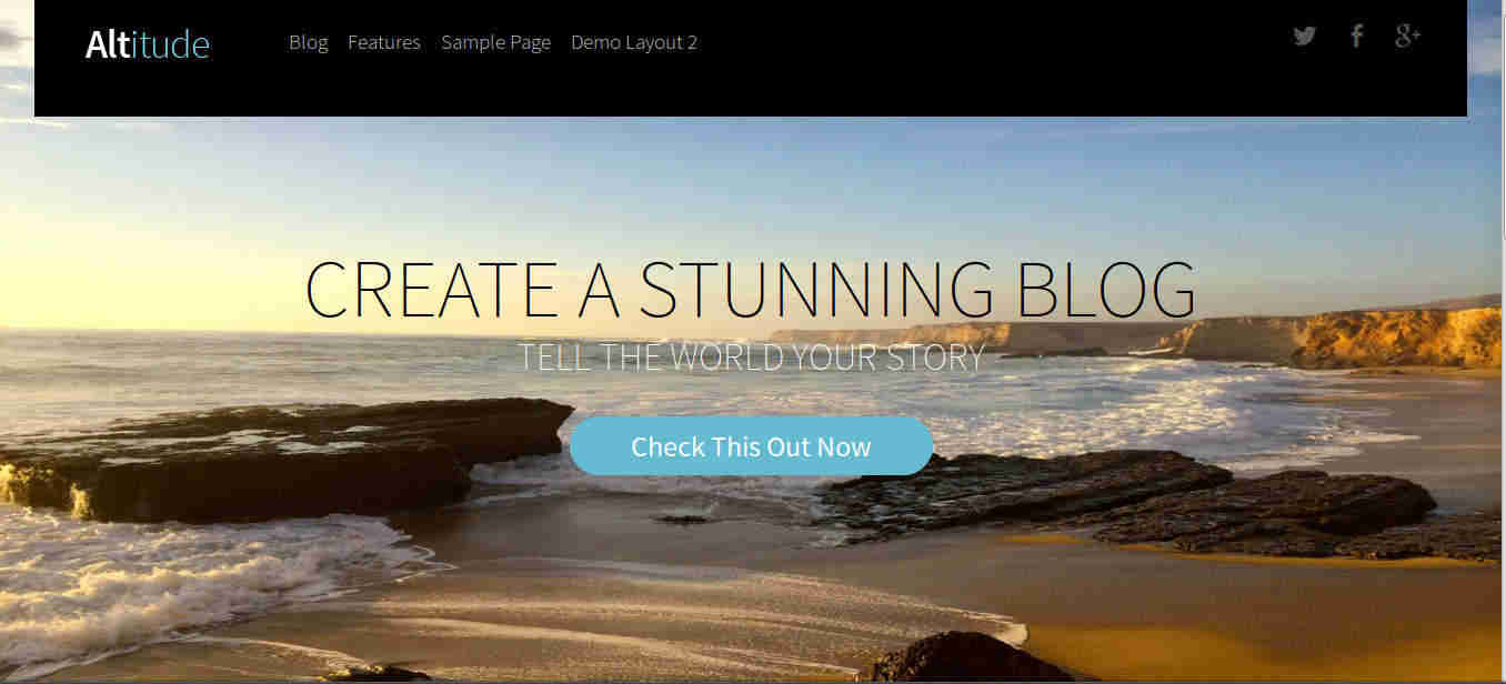 Parallax Header Image in WordPress Theme