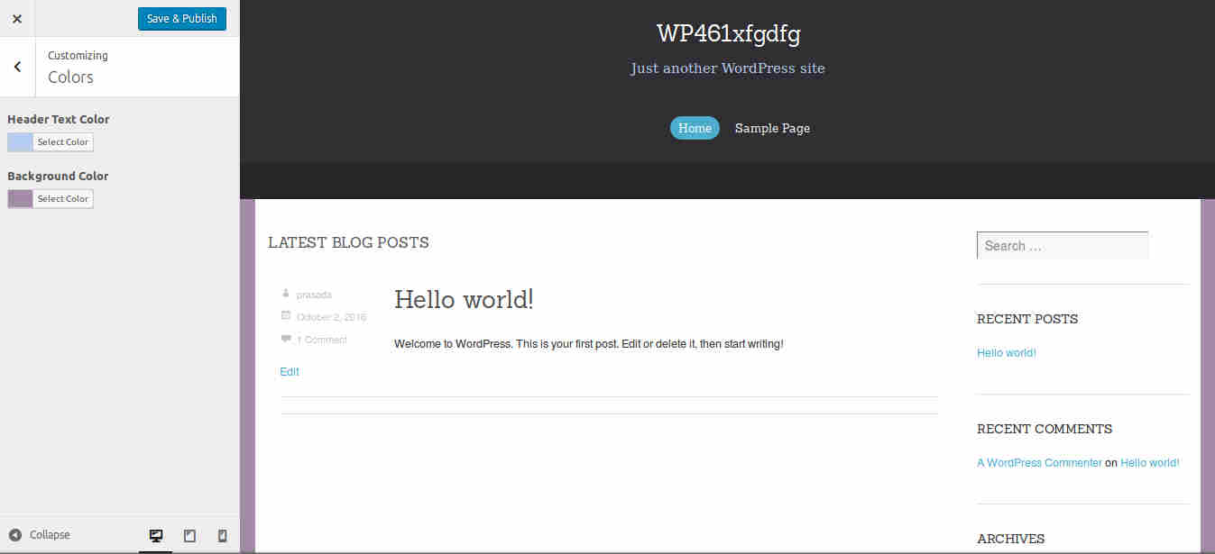 WordPress Blogging Theme with customization options