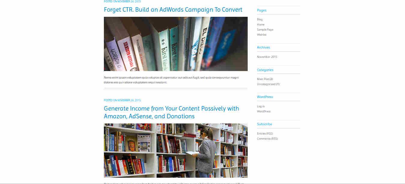 Drag and Drop Website Builder in WordPress Theme