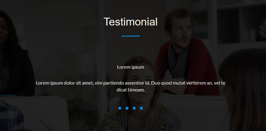 one page WP Theme testimonial section
