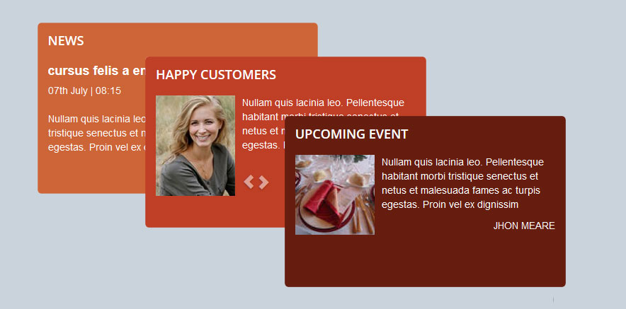 Showcase Elements in WordPress Restaurant Theme