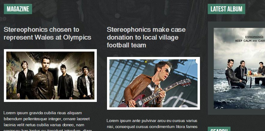 Magazine Layout for WordPress Themes