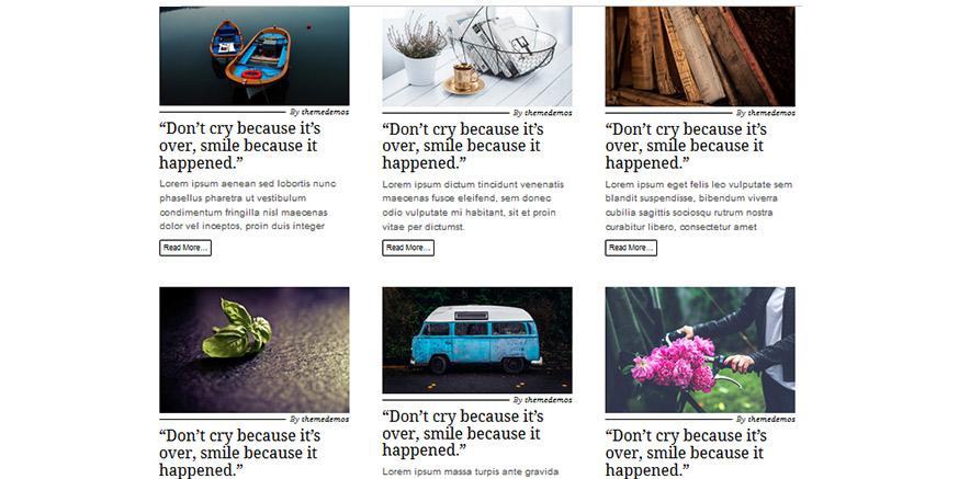 Magazine effect for blogs in WordPress theme