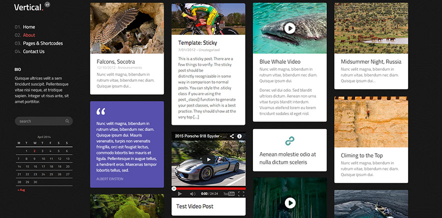 Magazine effect for posts in WordPress