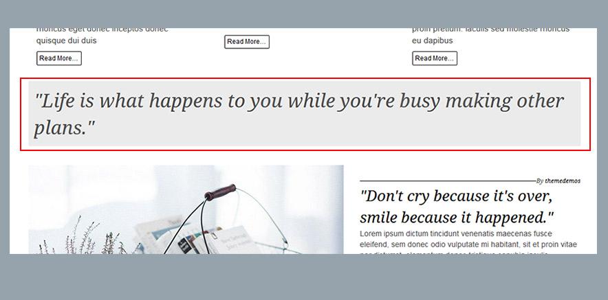 Quote widget in WordPress theme
