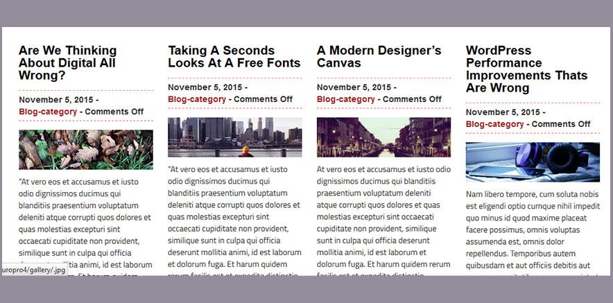 Latest posts in WordPress Portfolio Theme