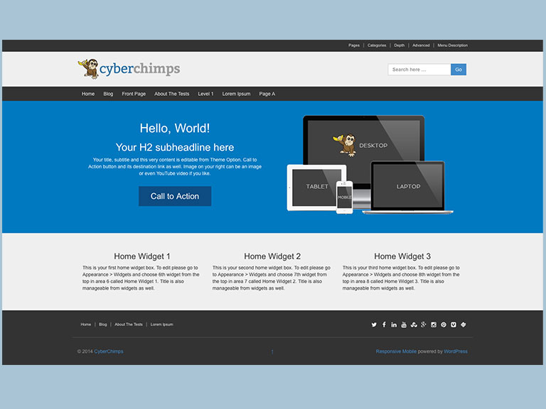 Mobile-first Responsive WordPress Theme