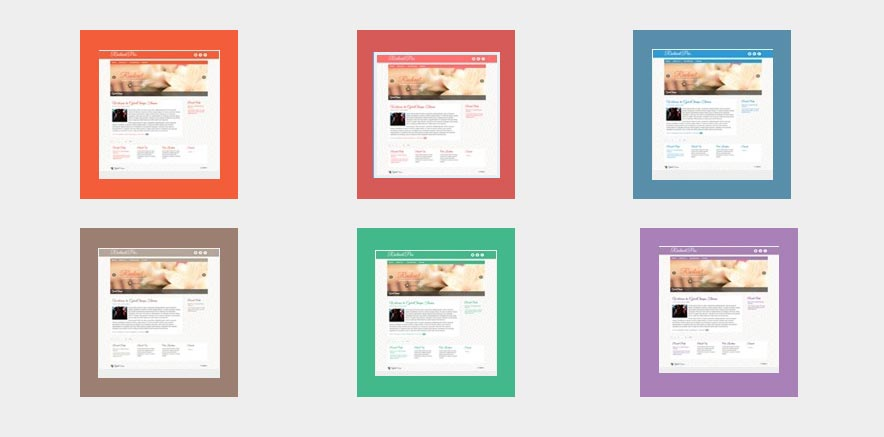 Skin color options for WordPress Blogging theme