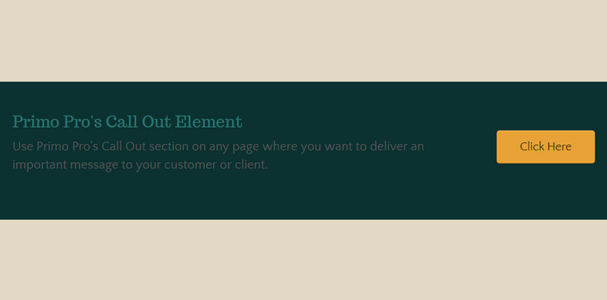 Call out Element in WordPress Mulitpurpose Theme