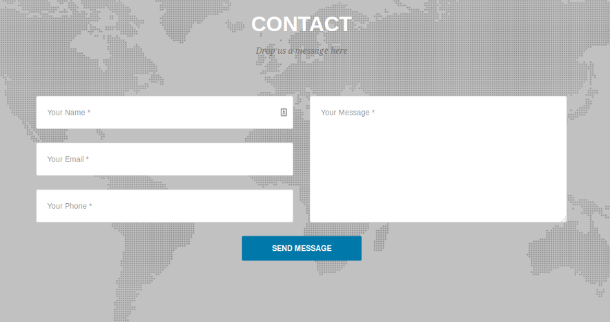 Inbuilt contact us section for WordPress theme