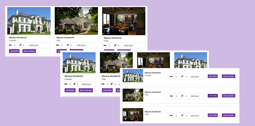 Listing Layout for WordPress Theme