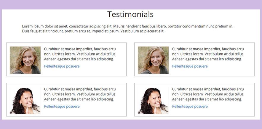 Testimonial Element in Real Estate WordPress Theme