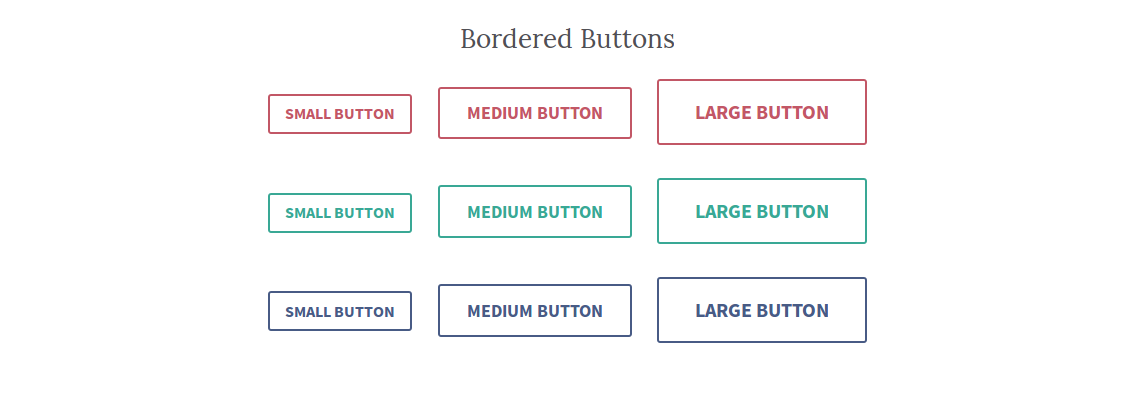 Bordered Buttons