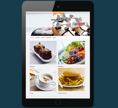 WordPress Food Blogging theme