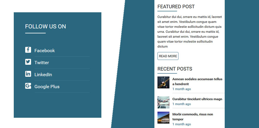 WordPress theme with sidebar widgets