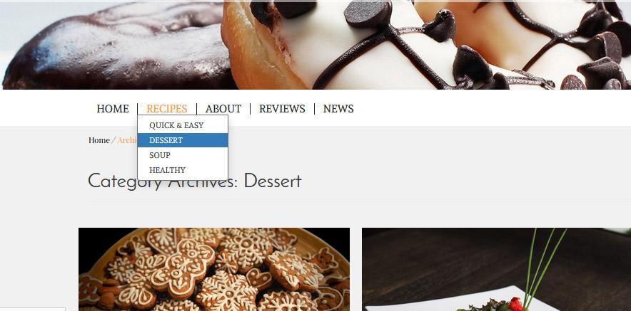 wordpress theme blog post category