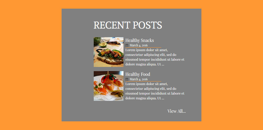 WordPress Themes Recent Post Layout
