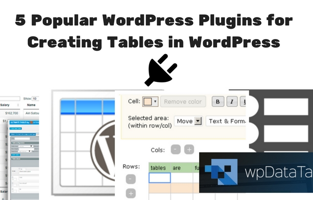 5 Popular WordPress Plugins for Creating Tables in WordPress