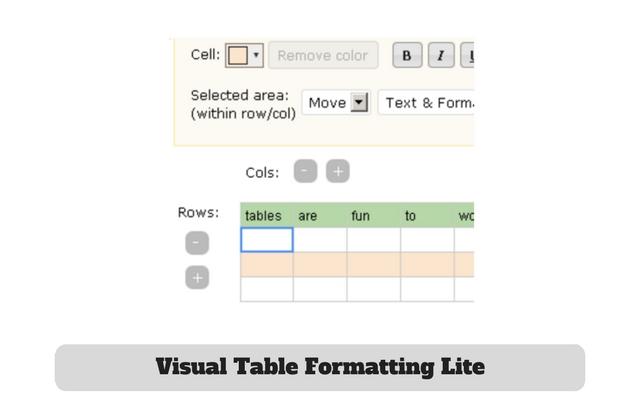 Visual Table Formatting Lite Plugin