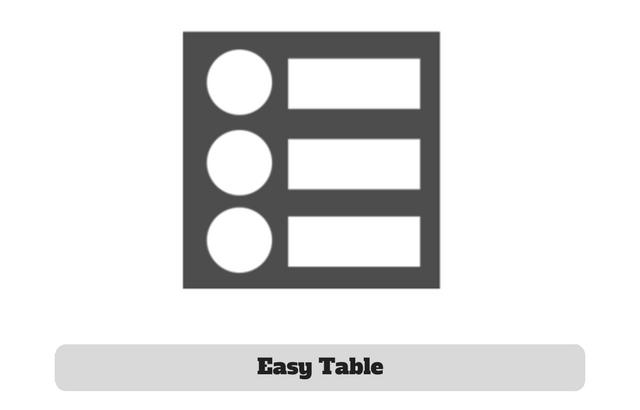 Easy Table Plugin