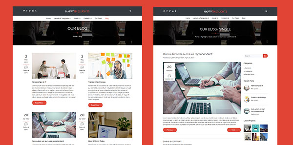 Blog Layout Options for Business WordPress Theme