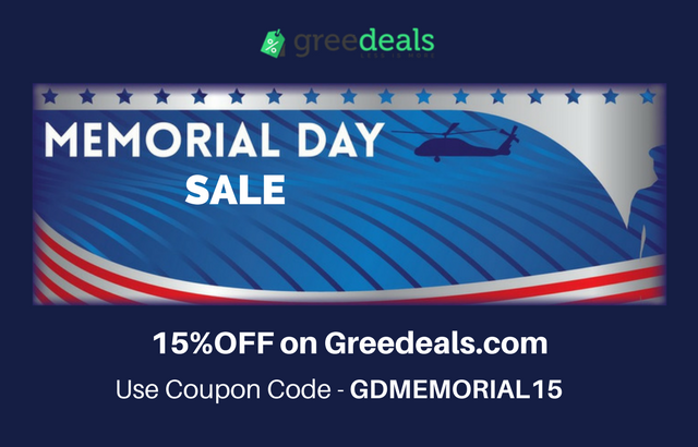 Greedeals Memorial Day 2017 sale