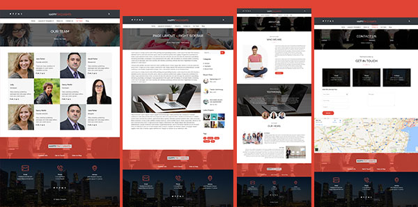 Page Templates for WordPress Business Theme