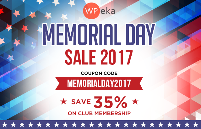 WPEka Memorial Day Sale