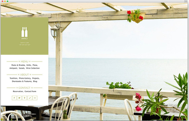 Amici Restaurant WordPress Theme