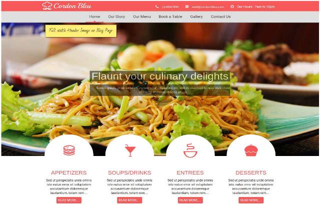 Cordon Bleu WordPress Restaurant Theme