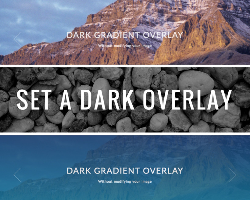 WP Theme with Slider With Dark Gradient Overlay