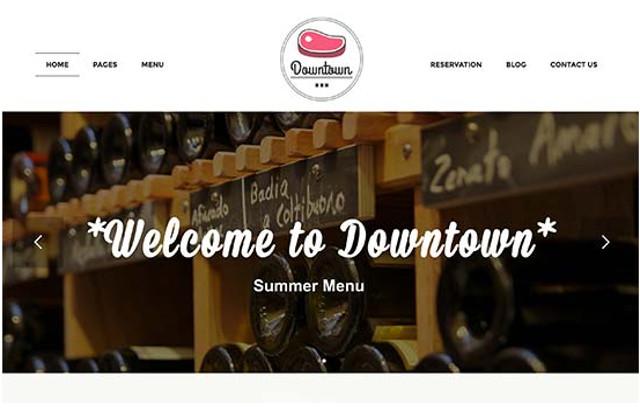 Downtown Restaurant WordPress Theme