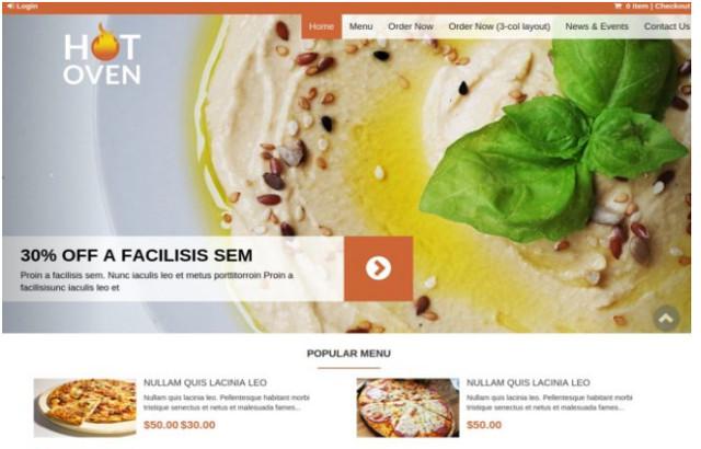 Hot Oven Restaurant WordPress Theme