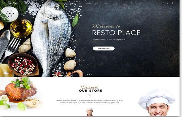 Resto WordPress Restaurant Theme