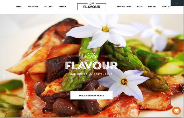 The Flavour Restaurant WordPress Theme