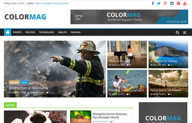 Color Mag WordPress Theme