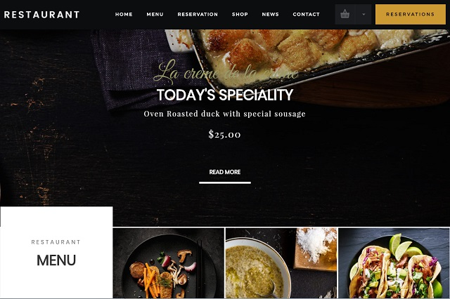 danny restaurant WP theme