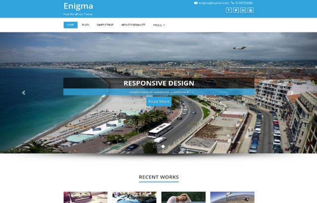 Enigma WordPress Theme