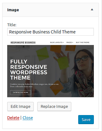 WordPress 4.8 Image Widget