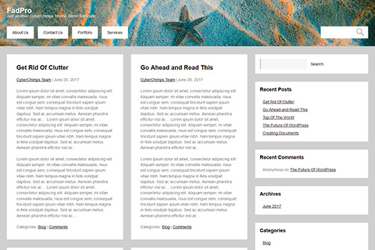 WordPress theme for blogging