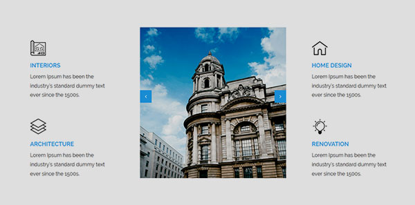 Image Slider in Services Section