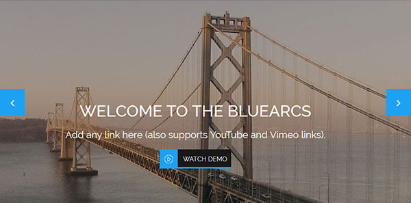 One Page WP theme with full-width slider