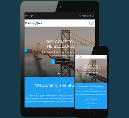 The BlueArcs WP Theme