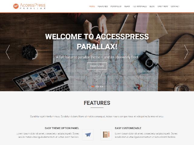 AccessPree Parallax WP Theme