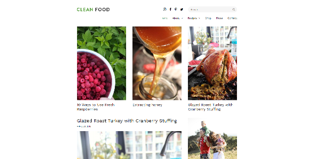 Clean food WordPress theme